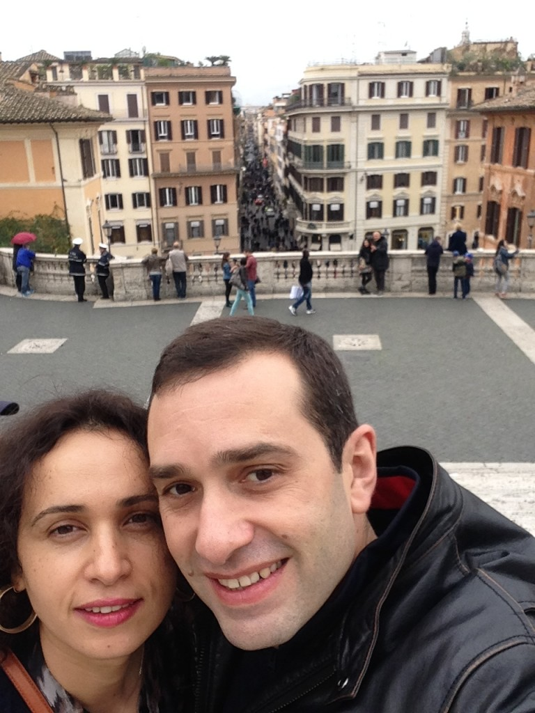 Irakli and his wife in Rome
